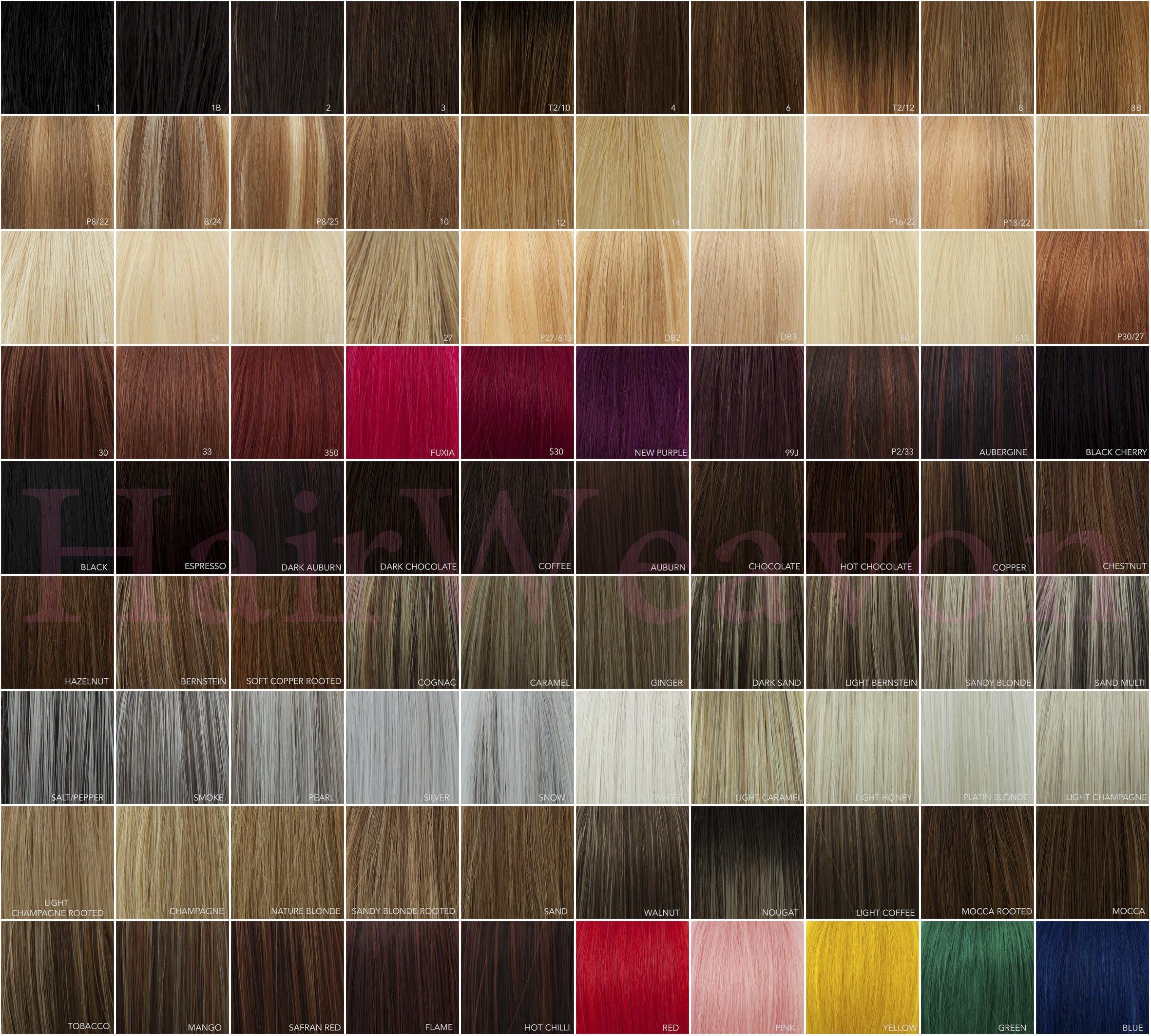 HairWeavon colour chart