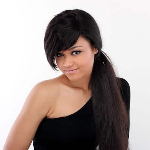 Clip in fringe hair extensions