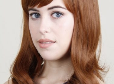 Caroline red hair wig with human hair monofilament cap or lace wig