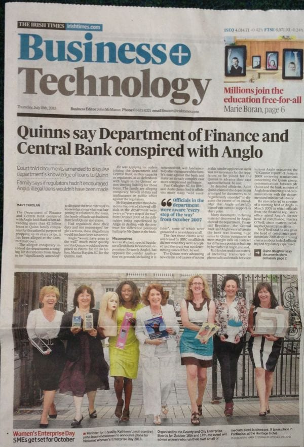 hairweavon wigs and hair extensions featured in the Irish times