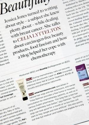 hairweavon wigs in irish times gloss magazine