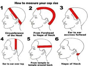 measure your wig cap size