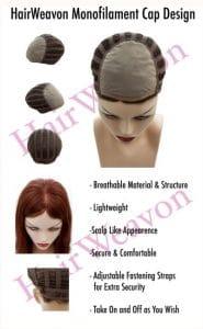Monofilament wig cap