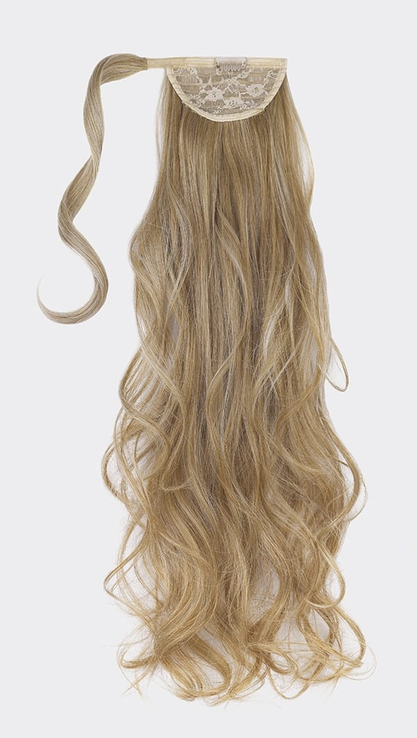 Champagne ponytail hair piece
