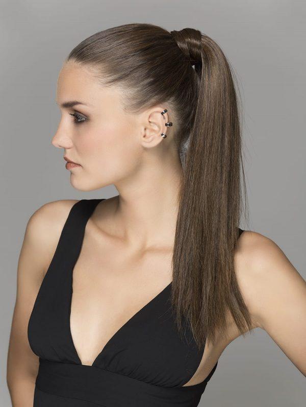 Aqua ponytail hair piece by Ellen Wille