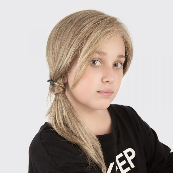 Sara Wig for Kids by Ellen Wille in Middle Brown