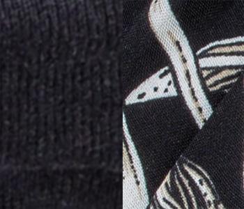Garbo Headwear by Ellen Wille in BLACK FLOWER