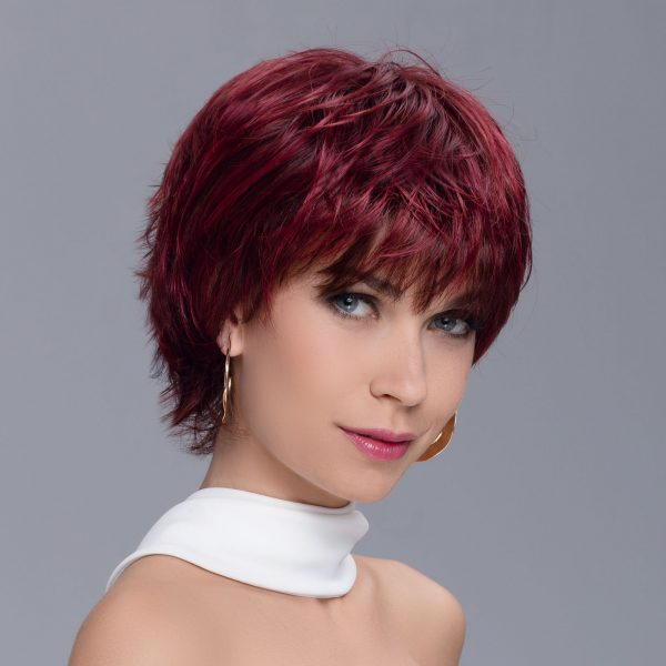 Spark Wig in WILD CHERRY ROOTED by Ellen Wille