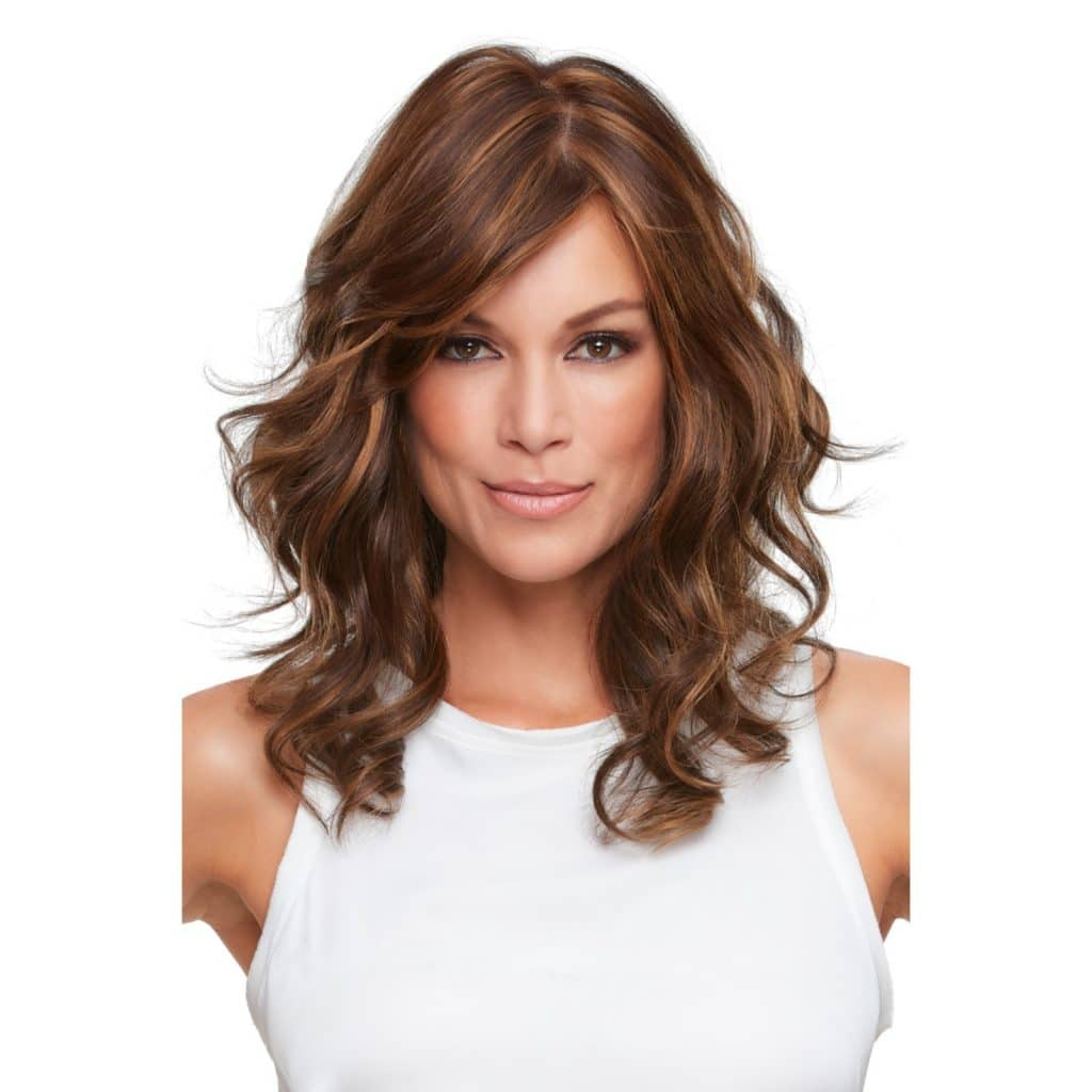 Alexis Wig in 6F27   Caramel Ribbon with Mono Top