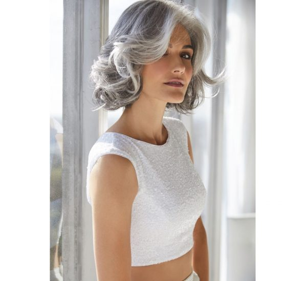Amal Wig by Rene of Paris in Sillverstone