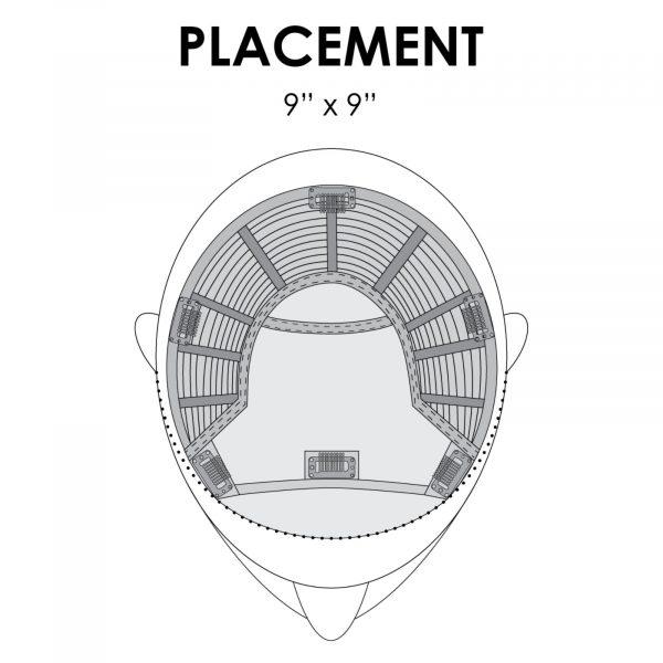 Top Smart Human Hair Topper by Jon Renau Placement