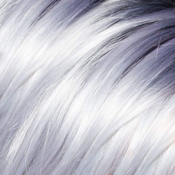 Pastel-White+Black-Blue-Root Synthetic Wig Colour by Belle Madame