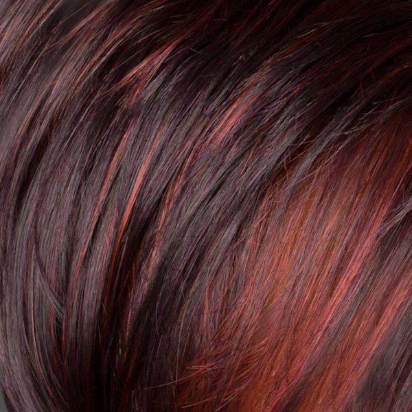 Dark Purple/Flame 2V/133/135 Synthetic Wig Colour by Belle Madame