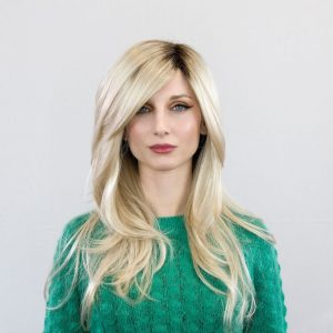 Angelica Wig | Synthetic (Part Mono) | Champagne Rooted