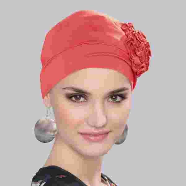 Lyra Headwear by Ellen Wille in Coral
