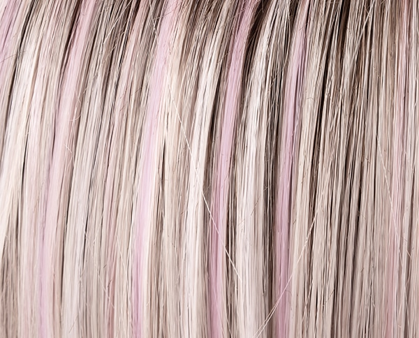 Pastel Rose Rooted Wig Colour by Ellen Wille