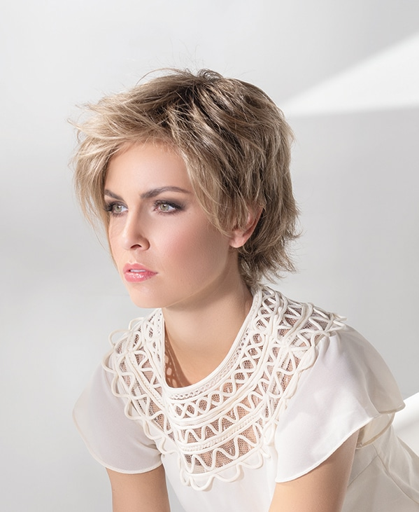 Joy Wig by Ellen Wille | Short Synthetic Lace Front Wig with Long Fringe