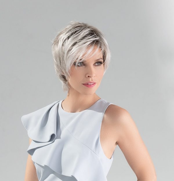 Satin Wig by Ellen Wille | Short Synthetic Asymmetric Lace Front