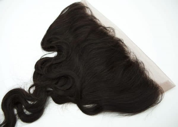 Lace frontal piece human hair 1B