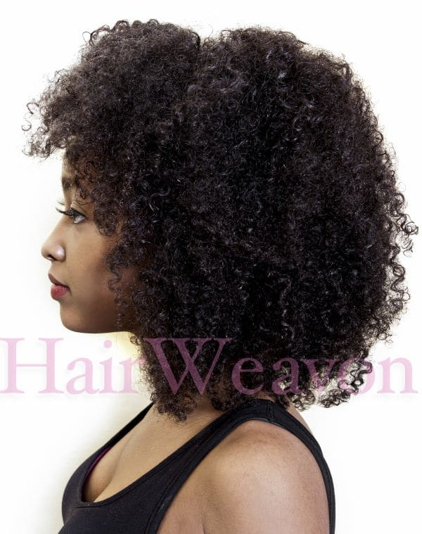 Curly Kinky Weave Hair Extensions For A Natural Afro Look