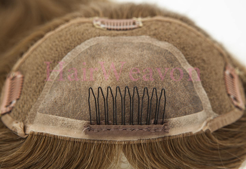 Topper clip in hair piece