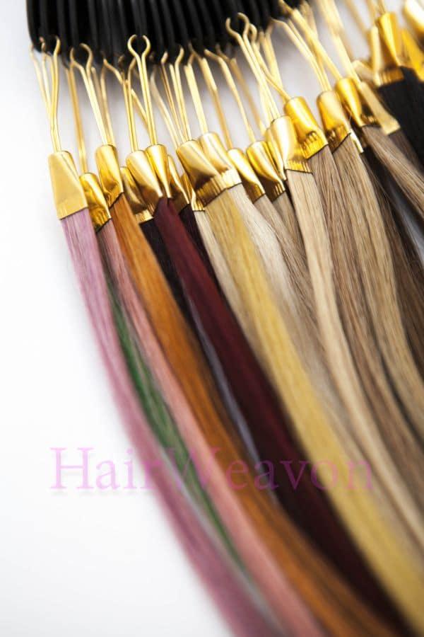Custom I Tip Microbead Hair Extensions 100 European Human Hair