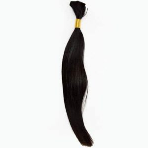 Bulk Human Hair Extensions Colour 1 Jet Black