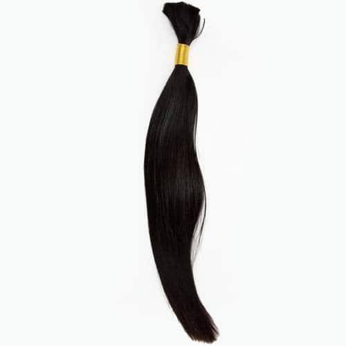 Bulk Human Hair Extensions Colour 1 Jet black