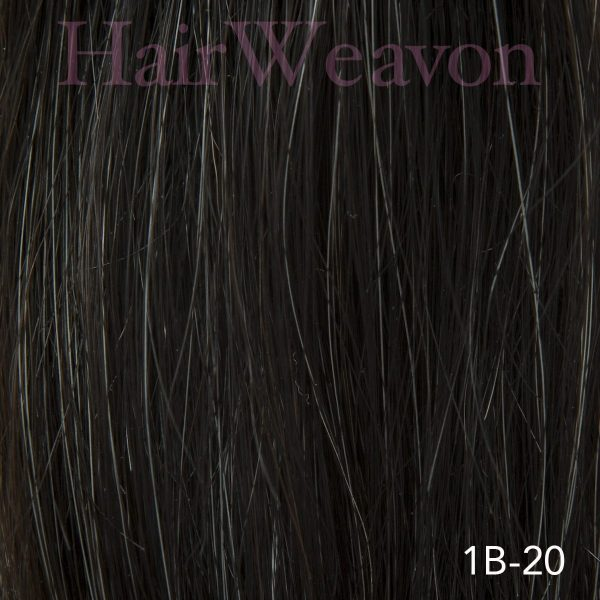 Mens Hair System Colour 1B 20% Grey