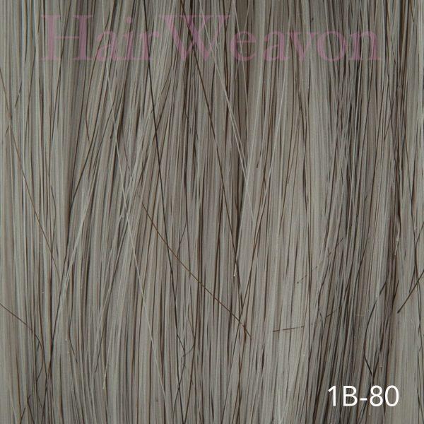 Mens Hair System Colour 1B 80% Grey