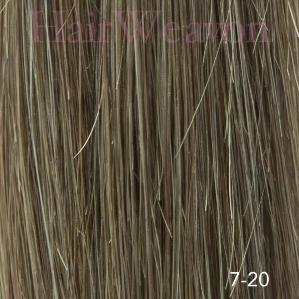 mens hair system colour 7 20% Grey