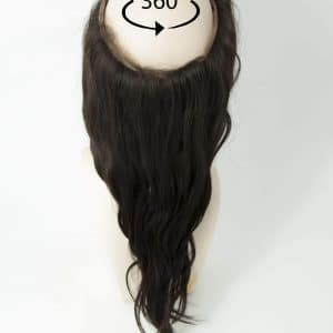 360 Frontal Hair Piece | Wavy Human Hair | Natural Black 1B