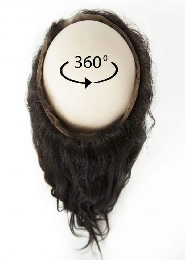 360 frontal hair piece for weave